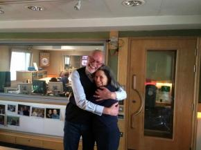 Bob Harris and Natalie Merchant photo by @WhisperingBob